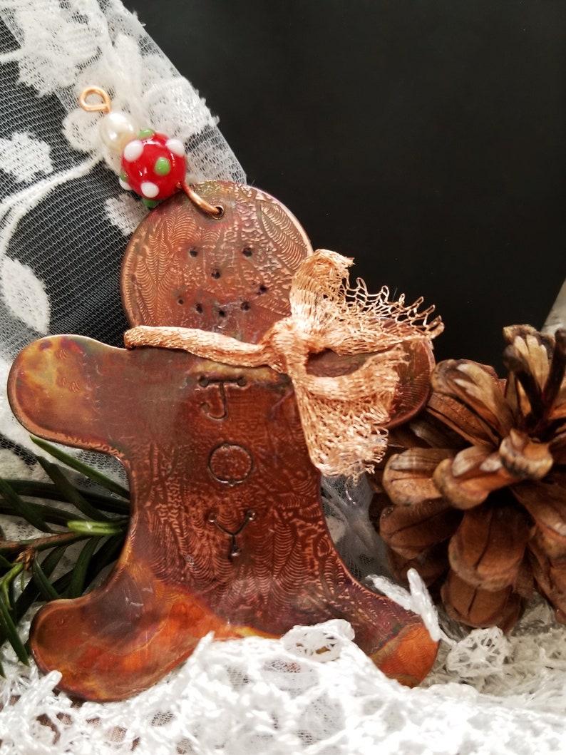 Gingerbread Man Christmas Ornament Hand made Holiday image 0