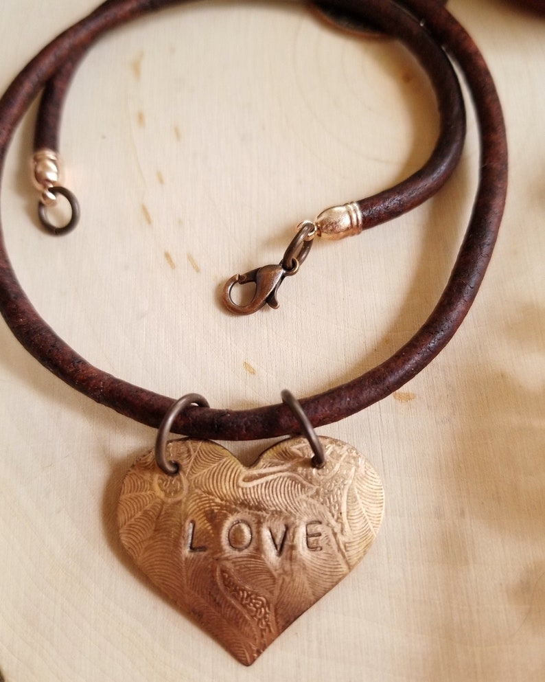 Inspirational Choker with LOVE Affirmation Heart Shaped image 0