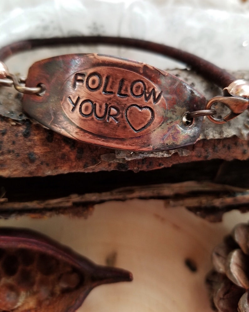FOLLOW YOUR HART Affirmation Bracelet For All Genders Choice image 0
