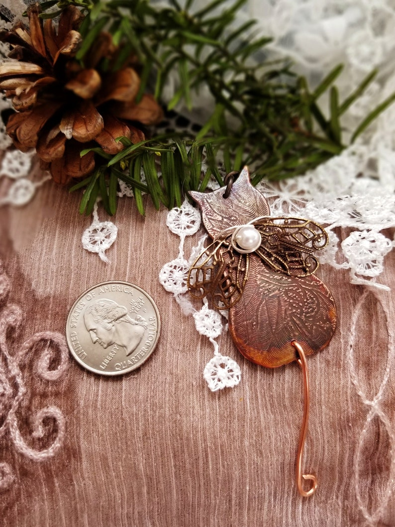 Angel Cat Holiday Ornament Hand Crafted Christmas Ornament image 0