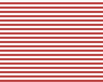 Red And White Stripe Knit Fabric By The Yard By Edward Oliver Etsy