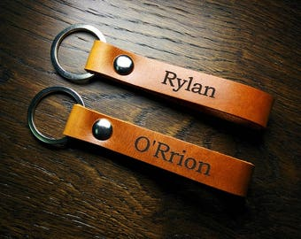 305 Leather Keychains