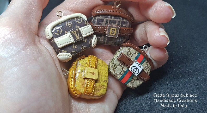Diy 4 Mini Charms Pochette Bag For Handmade Jewerly Made In Etsy