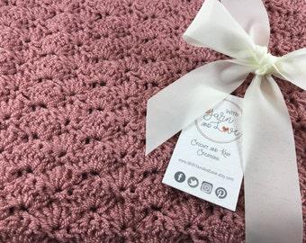 Crochet Baby blanket - Crochet blanket - Baby shower gifts - New baby gifts - Girl baby blanket - Photo props