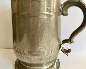 pewter tankard dated 1902