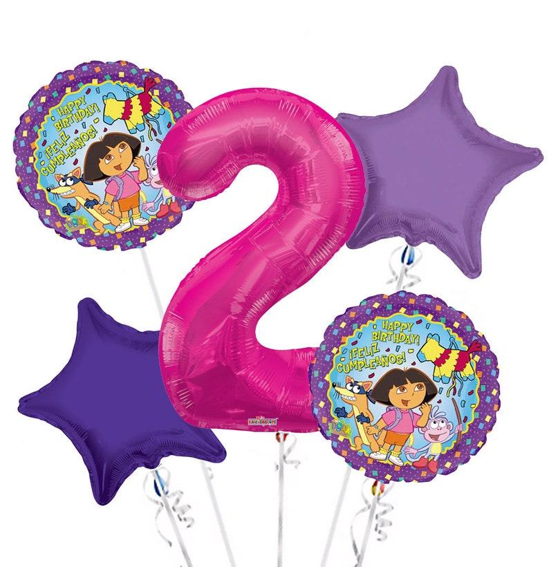 Vampirina Balloon Bouquet 5 pc 5th Birthday Hot Pink Number 5 Jumbo Balloon Viva Party Balloon Collection
