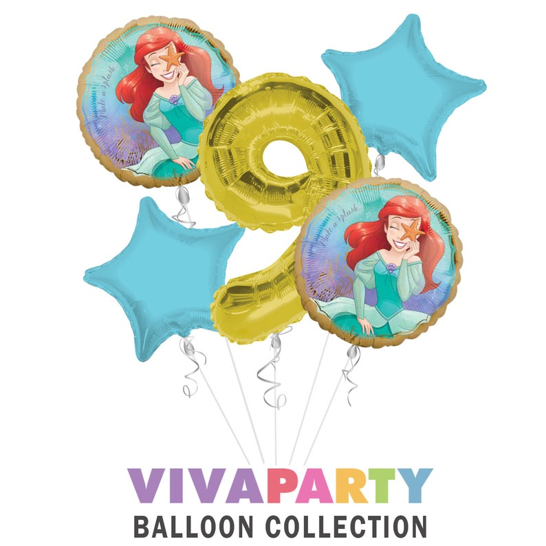 Once Upon A Time Happy Birthday Balloon Bouquet 5 Select From Age 1 To 9 Princess