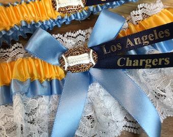San Diego Chargers Wedding Garter Set