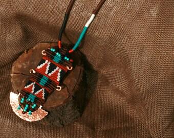 Native american jewelry, Native american necklace, Native american beadwork, Native american beaded jewelry, Boho macrame necklace