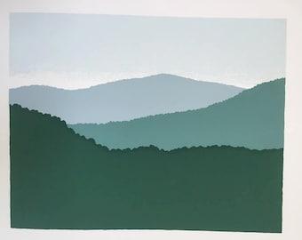 10.5'' x 8.5'' Green Mountains