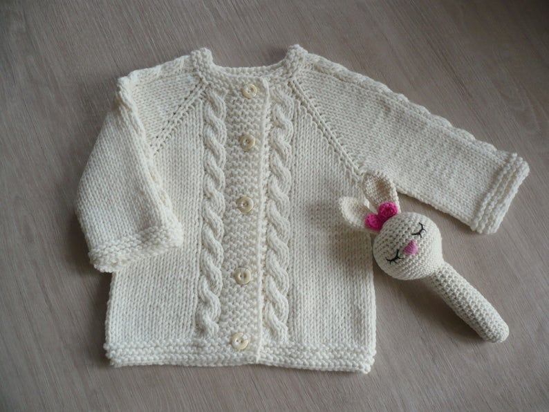 6bfb3c8d1171 White baby cardigan Fall baby sweater Ivory neutral baby