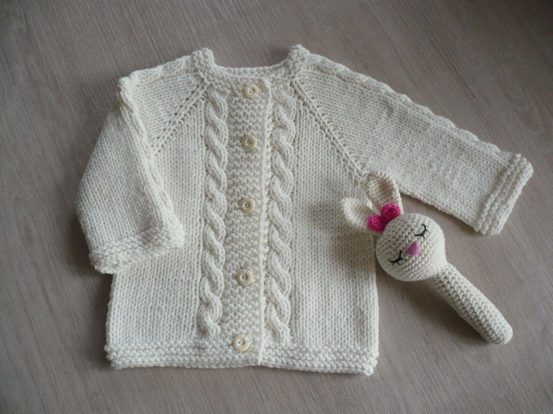 Gestrickt Baby Bolero//Strickjacke Weiß Neugeborenes 0-3 Monate 3-6 6-12 Neu