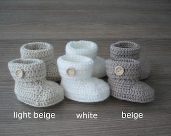 Crochet baby booties, Baby crib shoes, Newborn baby booties, Unisex baby shoes, New baby gift