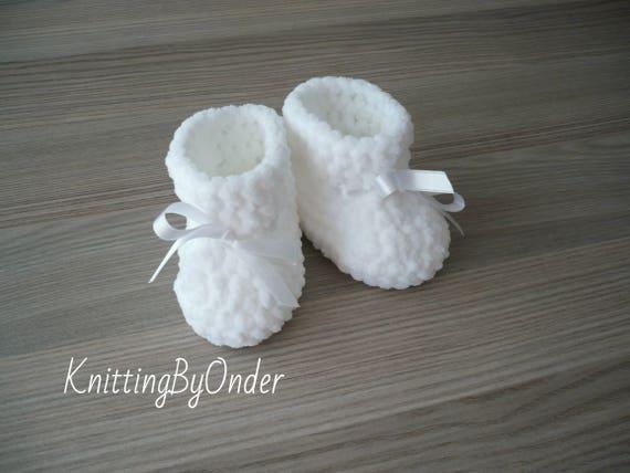 Weißer Winter Baby Stiefel Häkeln Babyschuhe Die Kleinkind Etsy