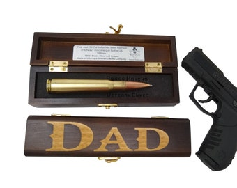 DAD Birthday Gifts For Him Bullet Pen Gift Box Personalized Dads Boyfriend Or Mens Brass Honcho