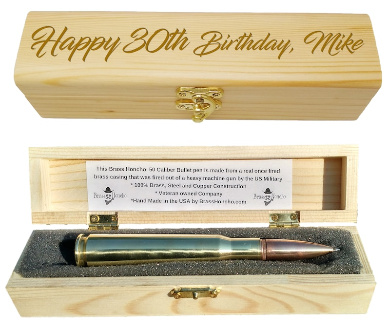 30th Birthday And Bullet Pen Gift Set