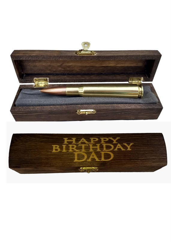 50th Birthday Dads Gifts 50 Cal Bullet Pen