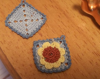 Miniature potholders (2 pieces) Micro crochet