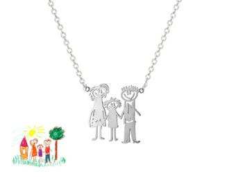 925 silver necklace with Children's drawing