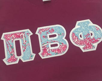 pi beta phi lilly pulitzer letter shirt