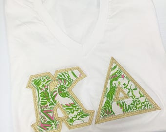 5db780c62ebc39 Kappa Delta Greek Letter Shirt- Available for LARGE Group Orders