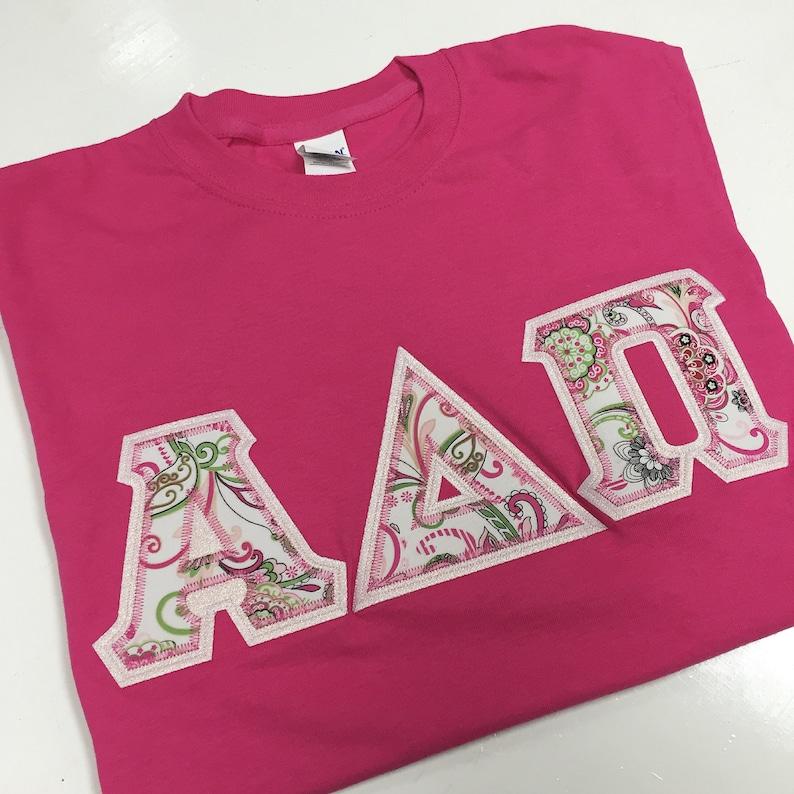 57d9cc4e Sorority Greek Letter Shirt Pink Paisley | Etsy