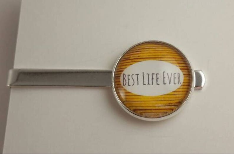 jw gifts Yellow wood slat background Jw menswear JW Men/'s Tie Bar featuring Best Life Ever jw accessories jw items
