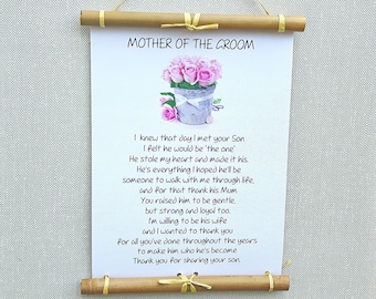 thank you for raising the man of my dreams poem wall art mother of the groom gift from bride christmas gifts for mother in law keepsake - What To Get Your Mother In Law For Christmas