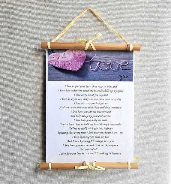 benutzerdefinierte Liebe Gedicht Wandkunst | Etsy