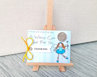 Tooth Fairy gift - Keepsake wishing coin - Lost tooth certificates for kids - Toothfairy tiny letter receipt - Poem note present from Fairy