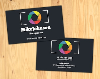 Photographer business cards photo business card photographer photographer business cards photo business card photographer card photography card biz card custom business card camera reheart Image collections