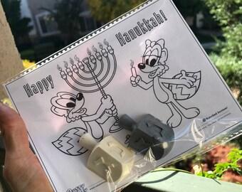 Hanukkah Crayons // Chanukkah kid's gifts // Star of David // Dreidel Crayons // Jewish Children's Presents // homegrowncrayons // Menorah
