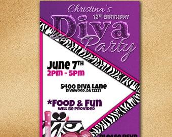 DIVA Party Invitations