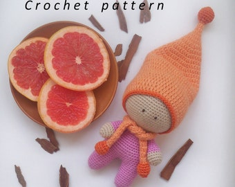 How to crochet a doll / easy crochet pattern toy / Crochet Pattern / Gnome pattern / Amigurumi/ Crochet Doll Pattern / Amigurumi doll/ Gnome