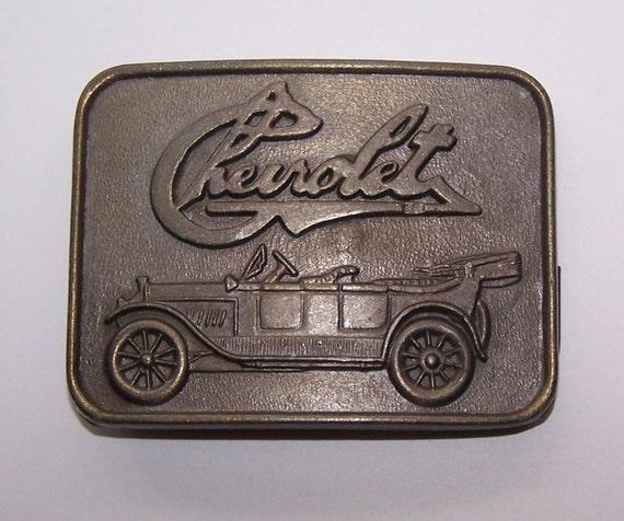 9ec280af0686 Boucle de ceinture Chevrolet estampillé R.J. Roberts   Co.   Etsy