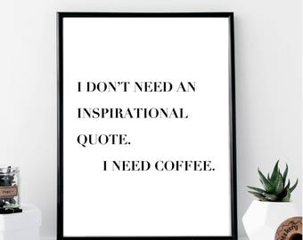 I Need Coffee Etsy