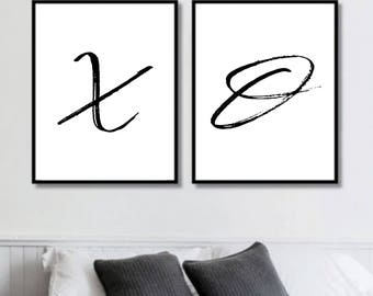 X O Prints // Her Poster // Bedroom // Minimalist Poster // Fashion // Wall Decor For Couple // Bedroom Art
