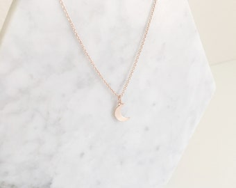 Delicate Small Moon Necklace   Gold Necklace   Rose Gold Necklace   Silver Moon Necklace   Gold Moon Necklace   Rose Gold Moon Necklace