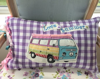 Campervan Cushion, funky gifts.