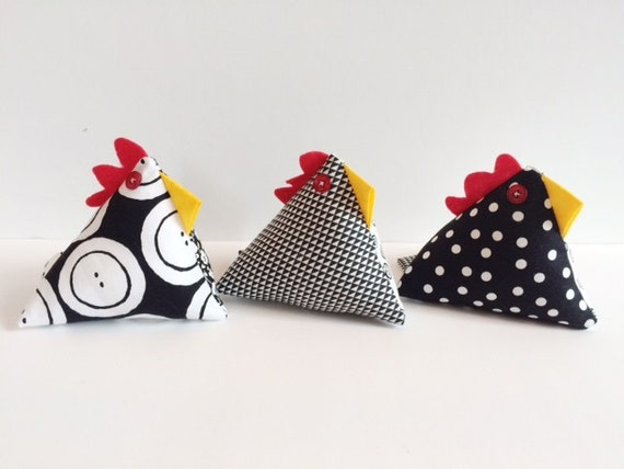 Chicken pin cushion gift for sewers