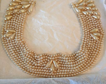 Vintage Faux Pearl Collar 1940's