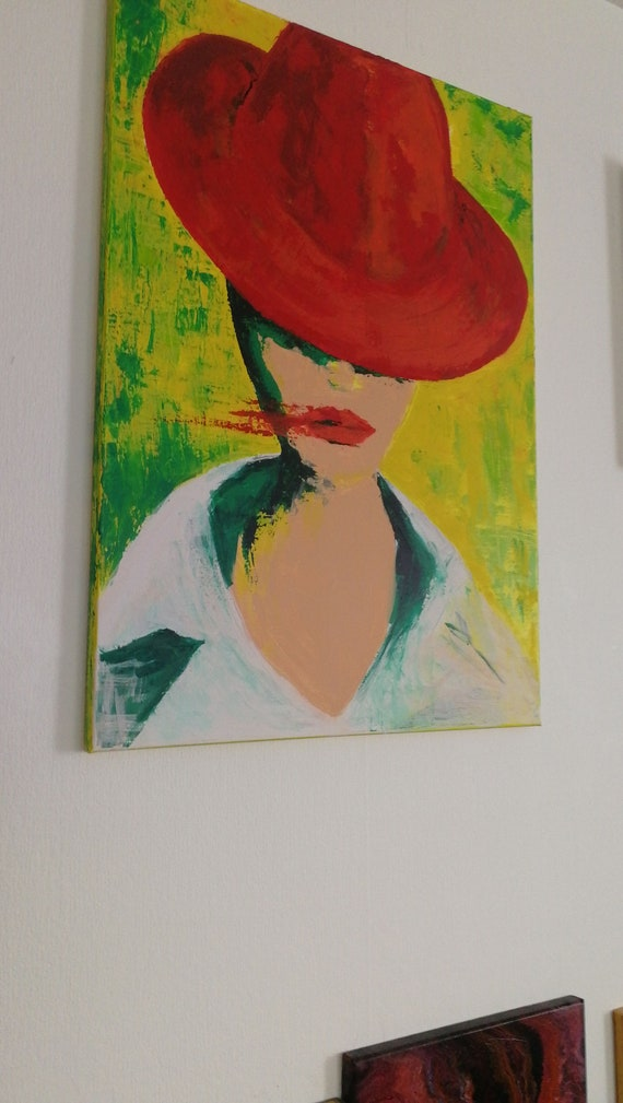 Lipstick Abstract Art Unique Acrylic Image