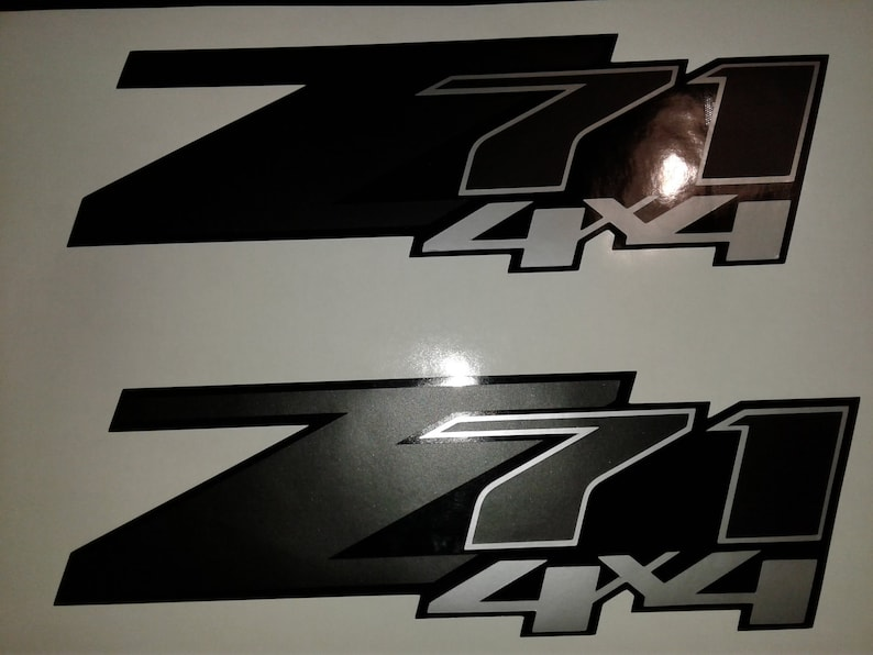 Flat Black Vinyl Overlays For Z71 Grill Emblem For 2014-2018 Chevy Silverado New