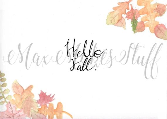 Downloadable Hello Fall Desktop Wallpaper Autumn Computer Backround Leaves