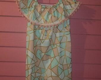 She'ley shoulder ruffle dress