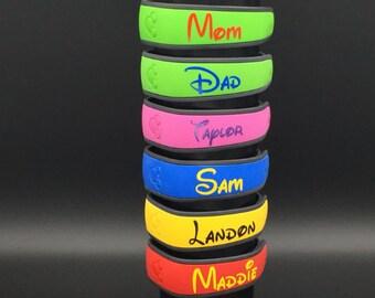 Custom Disney Magic Band Decals /Glossy or Glitter Decal/ Magic band 2.0 decal.Personalized Magic Band. Magic Band Name. Disney Band Decal
