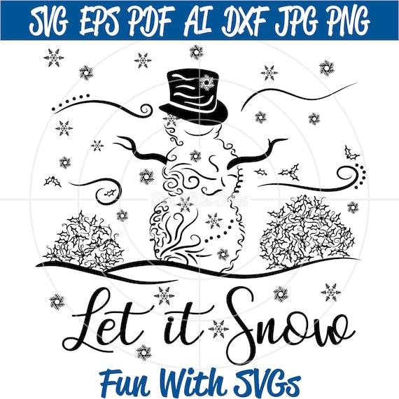 Filigree Snowman Svg Zentangle Snowman Svg Files Winter Etsy