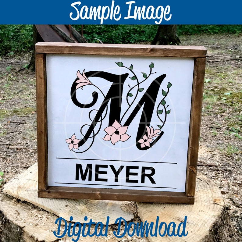 Letter M Monogram Wedding Monograms Monogram SVG Alphabet Monograms SVG Files Silhouette and Cricut Cut Files Bridal Monograms