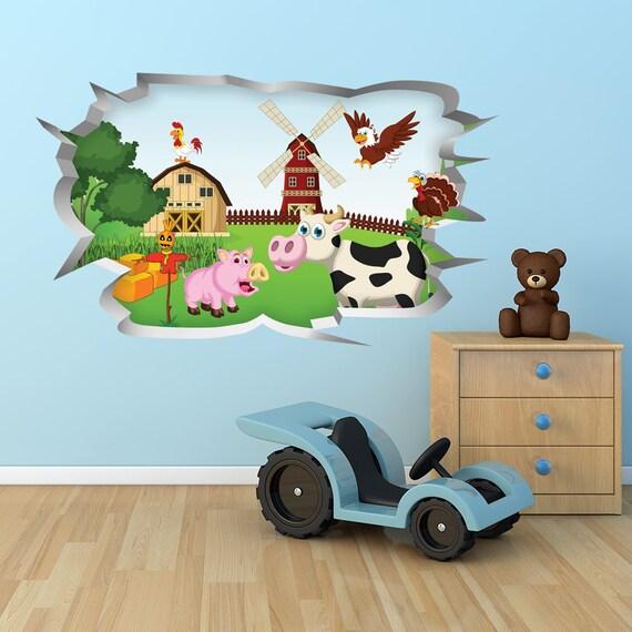 Farm Yard: Children\'s Bedroom Wall Sticker / Home Decor / Graphic Decal