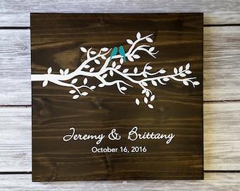 Tree Guest Book, Leaf Guest Book, Guest Book Tree, Wedding Guest Book Alternative, Wedding Guestbook, Wedding Guest Board w/ 50 leafs